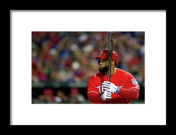 American League Baseball Framed Print featuring the photograph Prince Fielder by Cooper Neill