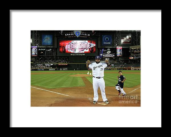 American League Baseball Framed Print featuring the photograph Prince Fielder by Jeff Gross