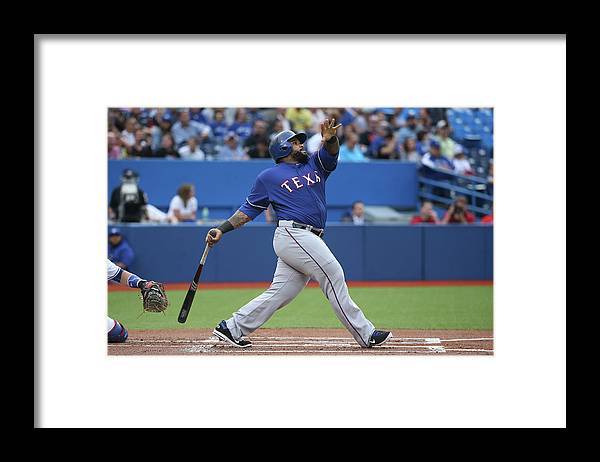 People Framed Print featuring the photograph Prince Fielder by Tom Szczerbowski