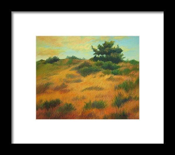 Cape Cod Scene Framed Print featuring the painting Province Lands Cape Cod by Phyllis Tarlow