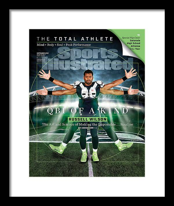 Russell Wilson Framed Print featuring the photograph QB One of a Kind Russell Wilson Sports Illustrated Cover by Sports Illustrated