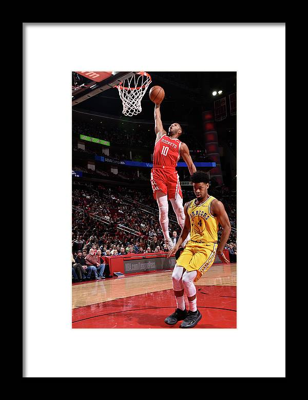 Nba Pro Basketball Framed Print featuring the photograph Quinn Cook and Eric Gordon by Bill Baptist