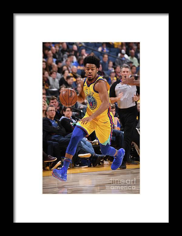 Nba Pro Basketball Framed Print featuring the photograph Quinn Cook by Garrett Ellwood