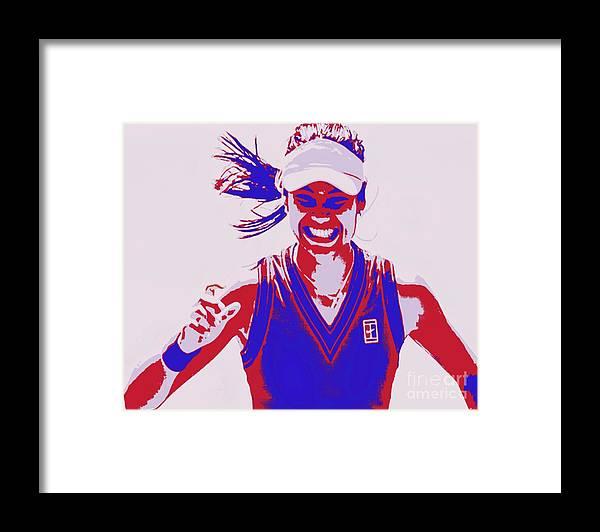 Raducanu Framed Print featuring the painting Raducanu US Open by Jack Bunds