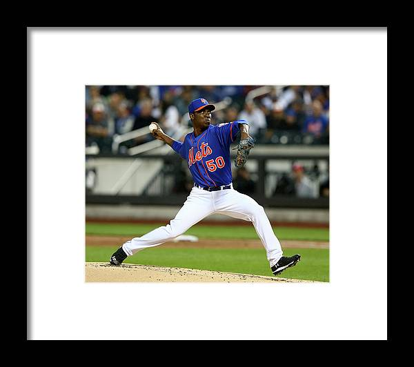 Second Inning Framed Print featuring the photograph Rafael Montero by Elsa