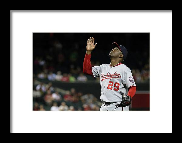 Relief Pitcher Framed Print featuring the photograph Rafael Soriano by Christian Petersen