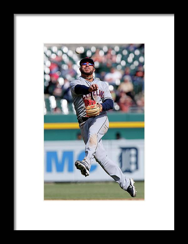 American League Baseball Framed Print featuring the photograph Rajai Davis and Mike Aviles by Duane Burleson