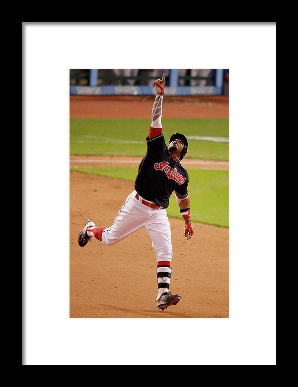 People Framed Print featuring the photograph Rajai Davis by Gregory Shamus