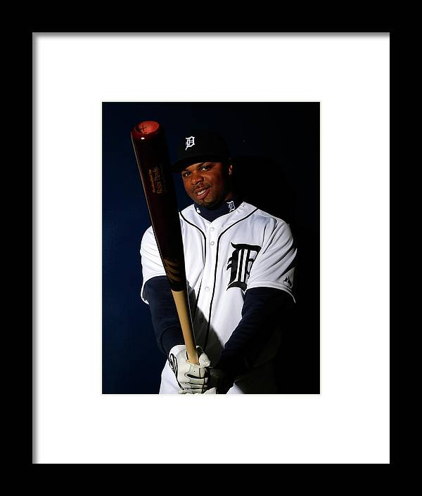 Media Day Framed Print featuring the photograph Rajai Davis by Kevin C. Cox