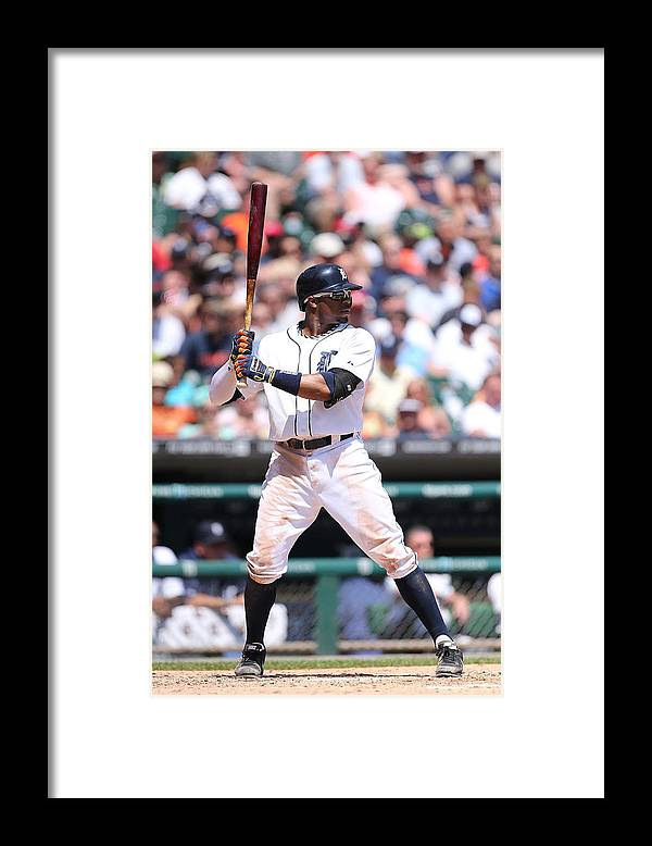 American League Baseball Framed Print featuring the photograph Rajai Davis by Leon Halip