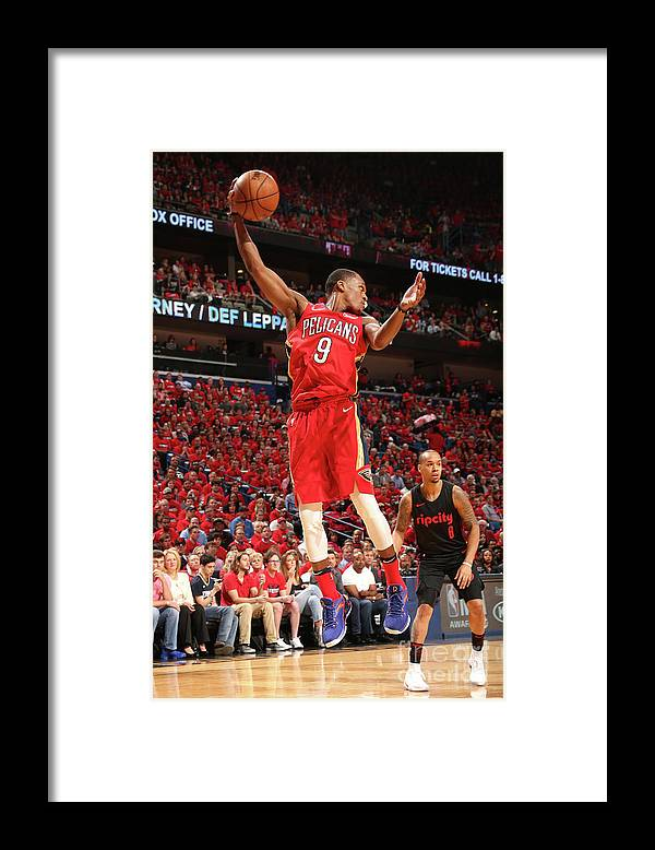 Smoothie King Center Framed Print featuring the photograph Rajon Rondo by Layne Murdoch