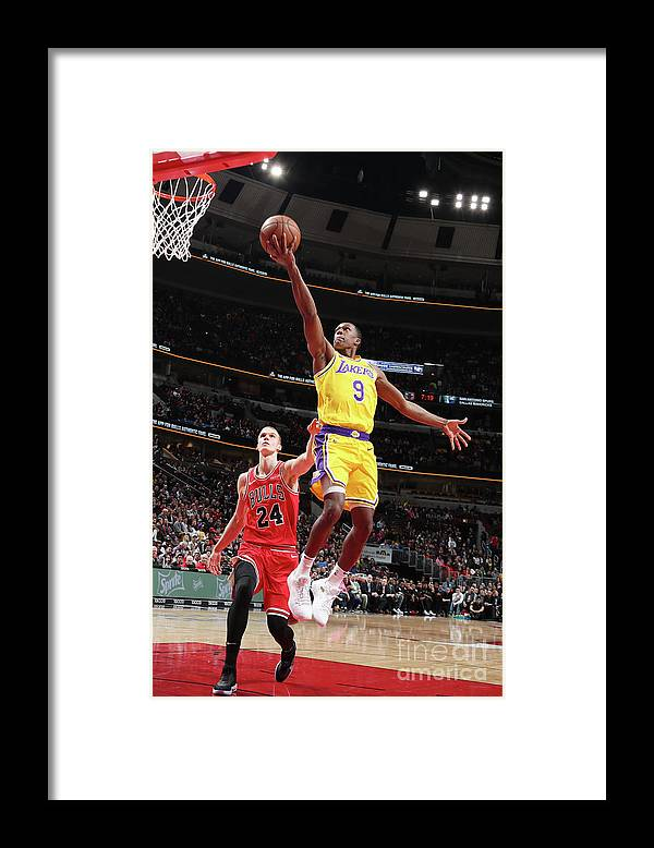 Nba Pro Basketball Framed Print featuring the photograph Rajon Rondo by Nathaniel S. Butler