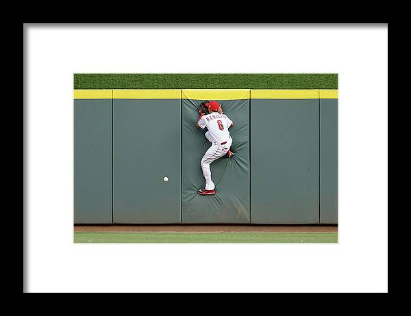 Great American Ball Park Framed Print featuring the photograph Randal Grichuk by Andy Lyons