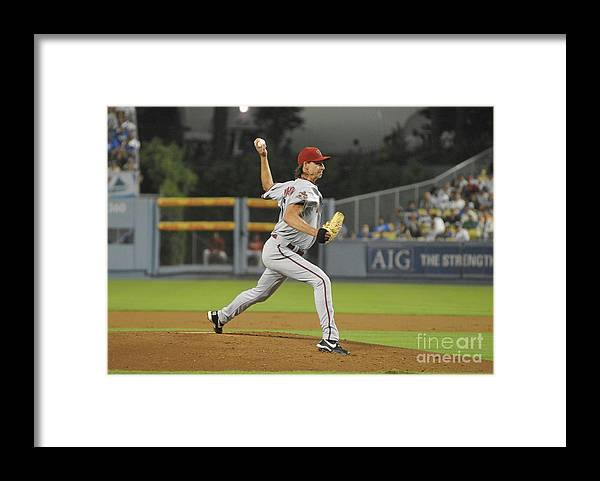 People Framed Print featuring the photograph Randy Johnson by Icon Sports Wire