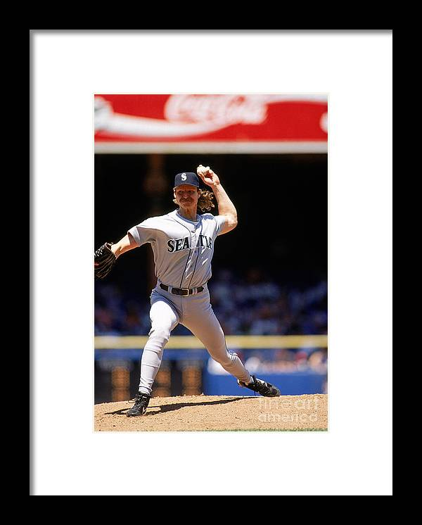 American League Baseball Framed Print featuring the photograph Randy Johnson by John Reid Iii