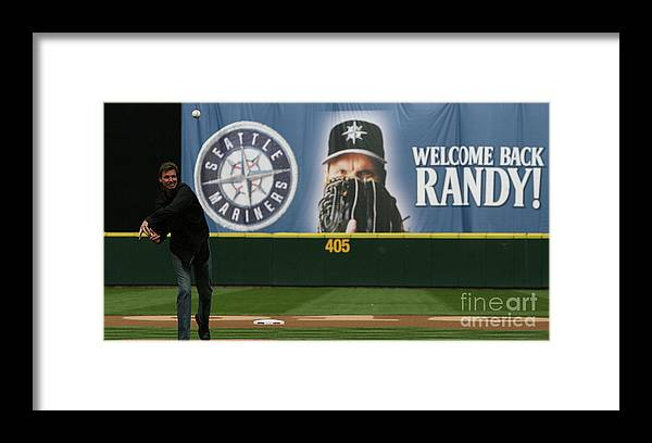 People Framed Print featuring the photograph Randy Johnson by Otto Greule Jr