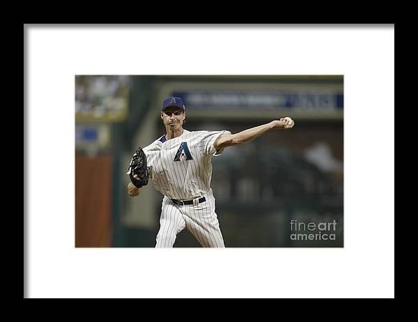 American League Baseball Framed Print featuring the photograph Randy Johnson by Rich Pilling