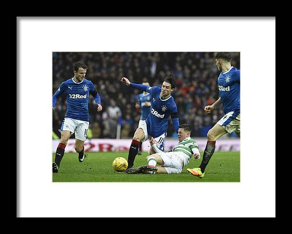 Glasgow Framed Print featuring the photograph Rangers v Celtic - Ladbrokes Scottish Premiership - Ibrox Stadium by Ian Rutherford - PA Images
