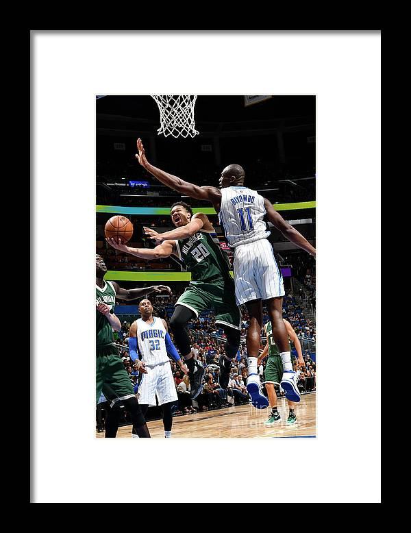 Nba Pro Basketball Framed Print featuring the photograph Rashad Vaughn by Fernando Medina