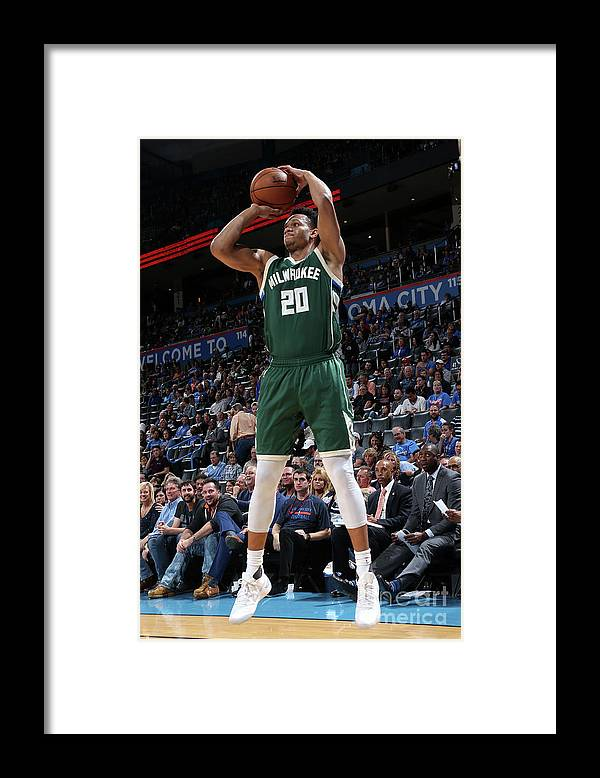 Nba Pro Basketball Framed Print featuring the photograph Rashad Vaughn by Layne Murdoch