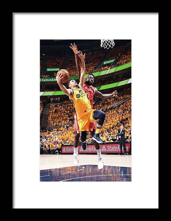 Playoffs Framed Print featuring the photograph Raul Neto and Clint Capela by Andrew D. Bernstein