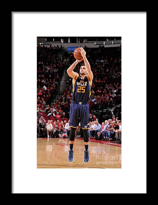 Nba Pro Basketball Framed Print featuring the photograph Raul Neto by Bill Baptist