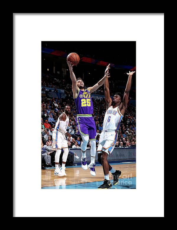 Nba Pro Basketball Framed Print featuring the photograph Raul Neto by Joe Murphy