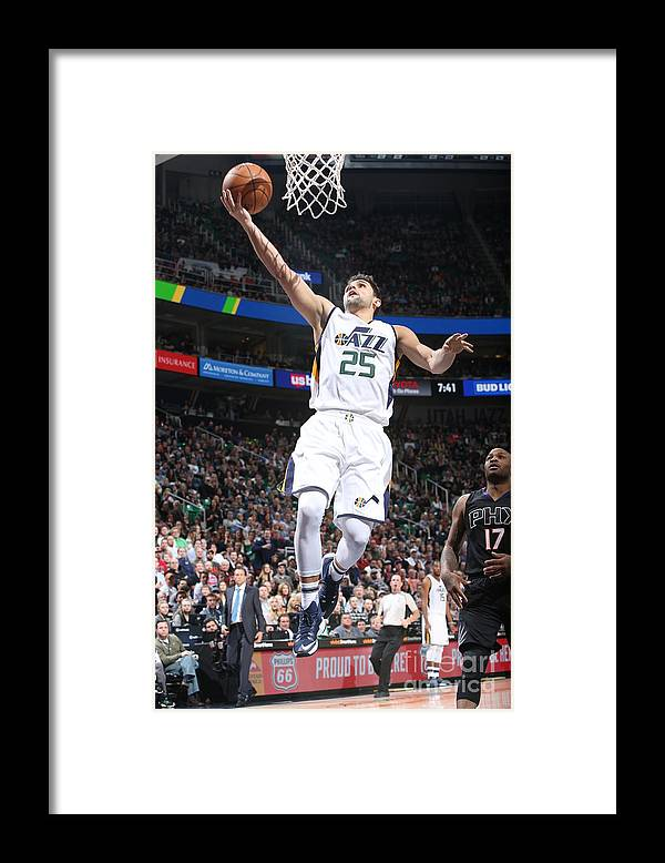 Nba Pro Basketball Framed Print featuring the photograph Raul Neto by Melissa Majchrzak