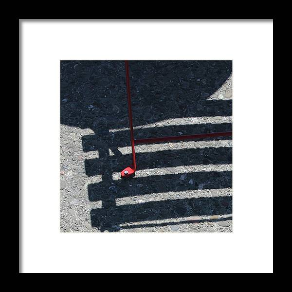 Photograph Framed Print featuring the photograph Red Finding by Richard Wetterauer