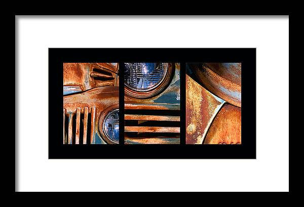 Abstract Framed Print featuring the photograph Red Head On by Steve Karol