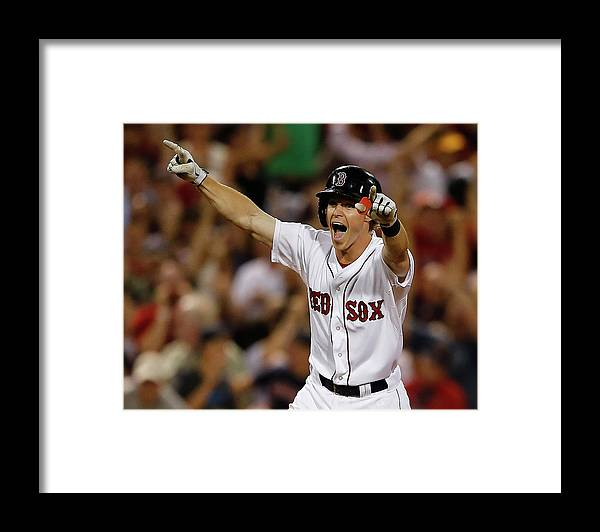 Ninth Inning Framed Print featuring the photograph Red Holt by Jim Rogash