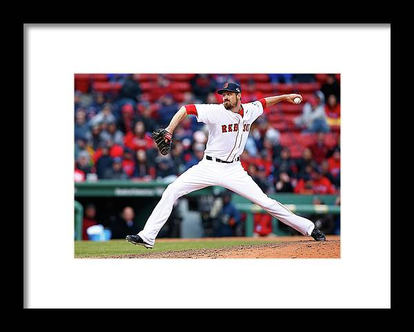 American League Baseball Framed Print featuring the photograph Red Miller by Jared Wickerham