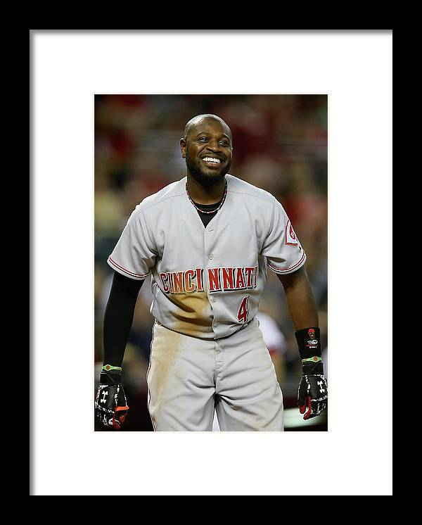 National League Baseball Framed Print featuring the photograph Red Phillips by Christian Petersen