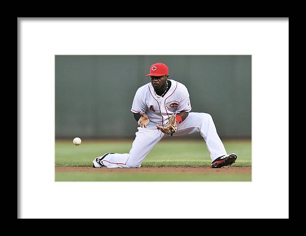 Great American Ball Park Framed Print featuring the photograph Red Phillips by Jamie Sabau