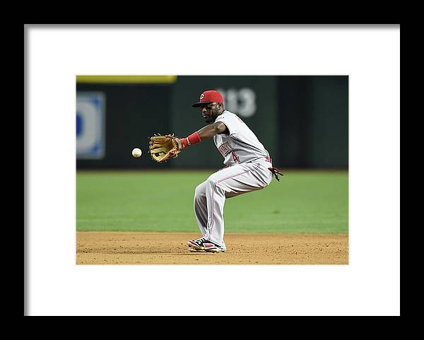 American League Baseball Framed Print featuring the photograph Red Phillips by Norm Hall