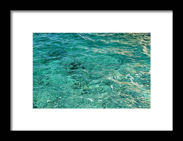 French Riviera Framed Print featuring the photograph Reflection on blue sea by Jean-Marc PAYET