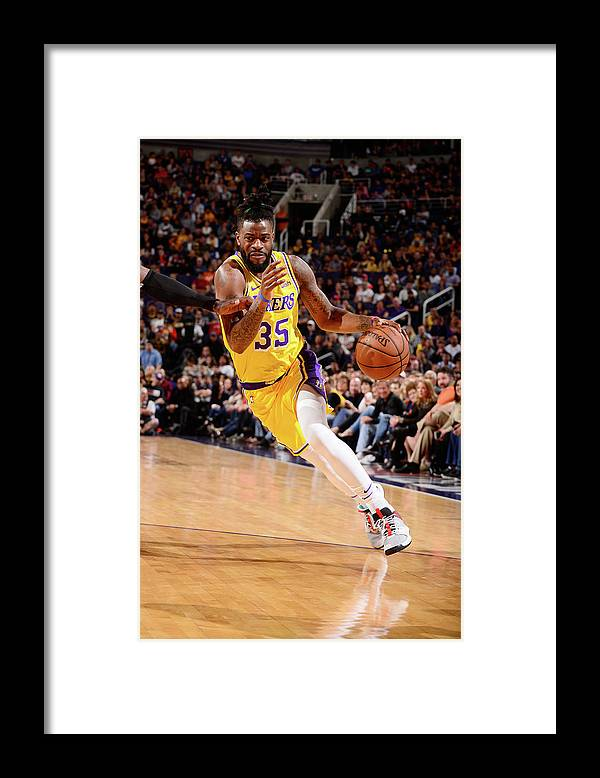 Nba Pro Basketball Framed Print featuring the photograph Reggie Bullock by Barry Gossage