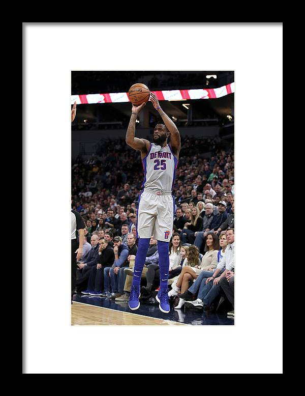 Nba Pro Basketball Framed Print featuring the photograph Reggie Bullock by Jordan Johnson