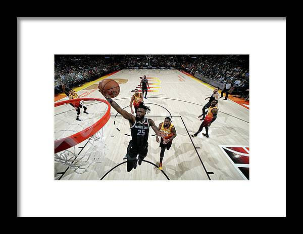 Nba Pro Basketball Framed Print featuring the photograph Reggie Bullock by Melissa Majchrzak