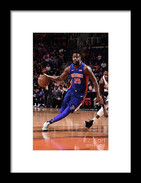 Nba Pro Basketball Framed Print featuring the photograph Reggie Bullock by Michael Gonzales
