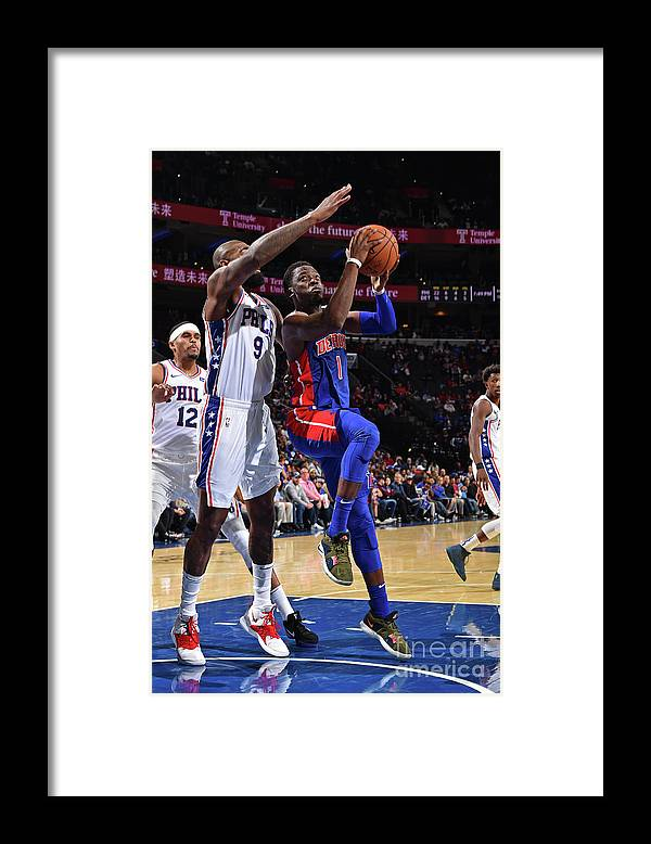 Nba Pro Basketball Framed Print featuring the photograph Reggie Jackson by David Dow