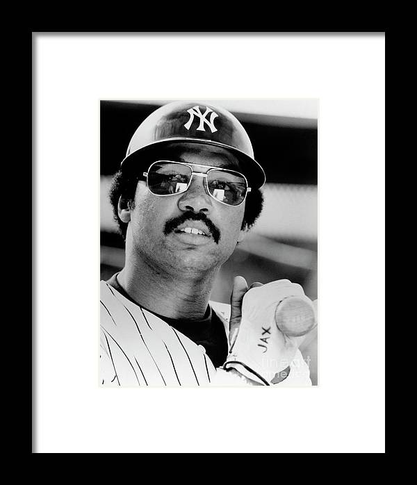 American League Baseball Framed Print featuring the photograph Reggie Jackson by National Baseball Hall Of Fame Library