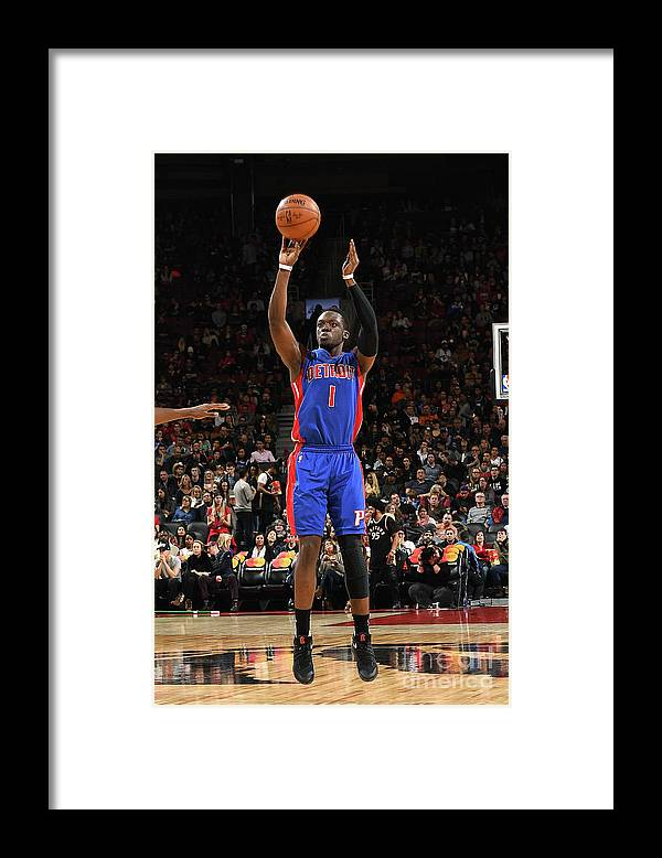 Nba Pro Basketball Framed Print featuring the photograph Reggie Jackson by Ron Turenne