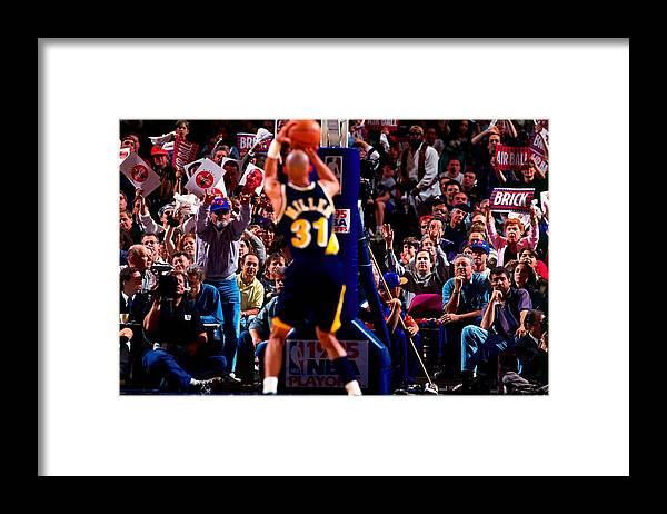 Playoffs Framed Print featuring the photograph Reggie Miller by Noren Trotman