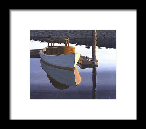 Marine Framed Print featuring the painting Retired fisherman by Gary Giacomelli