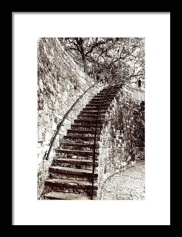 Retro Stairs in Savannah by John Rizzuto