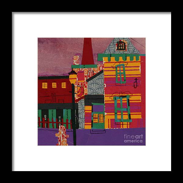Lowell Framed Print featuring the mixed media Revolving Museum by Debra Bretton Robinson