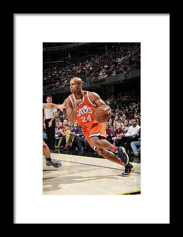 Nba Pro Basketball Framed Print featuring the photograph Richard Jefferson by David Liam Kyle