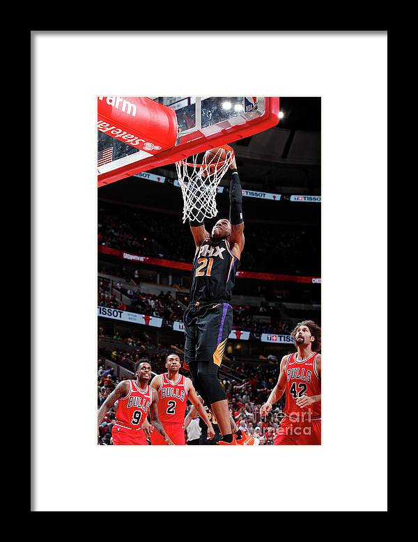 Nba Pro Basketball Framed Print featuring the photograph Richaun Holmes by Jeff Haynes