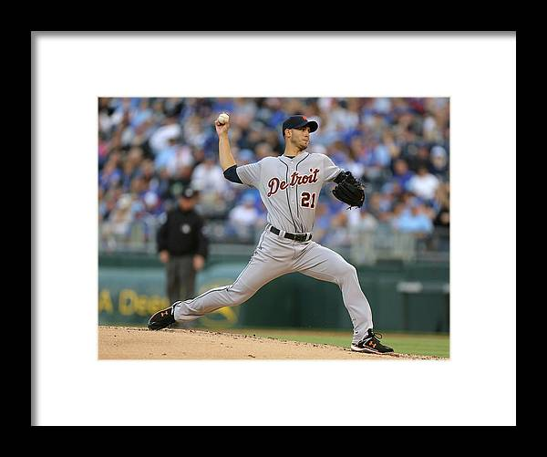 American League Baseball Framed Print featuring the photograph Rick Porcello by Ed Zurga
